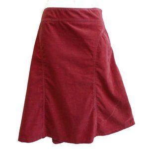 Fei ANTHRO Skirt Mauve Corduroy Midi A Line Zip 10